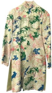 Shanghai Tang Limited Edition Jacquard Silk Couture Green with embroidery Jacket