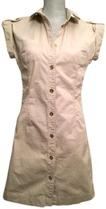Burberry short dress London Light Khaki Military Shirt on Tradesy