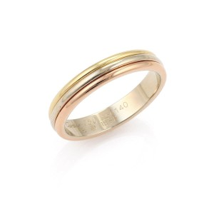 Cartier Triple Stack Band Ring in 18k Tri-Color Size 58 w/Cert