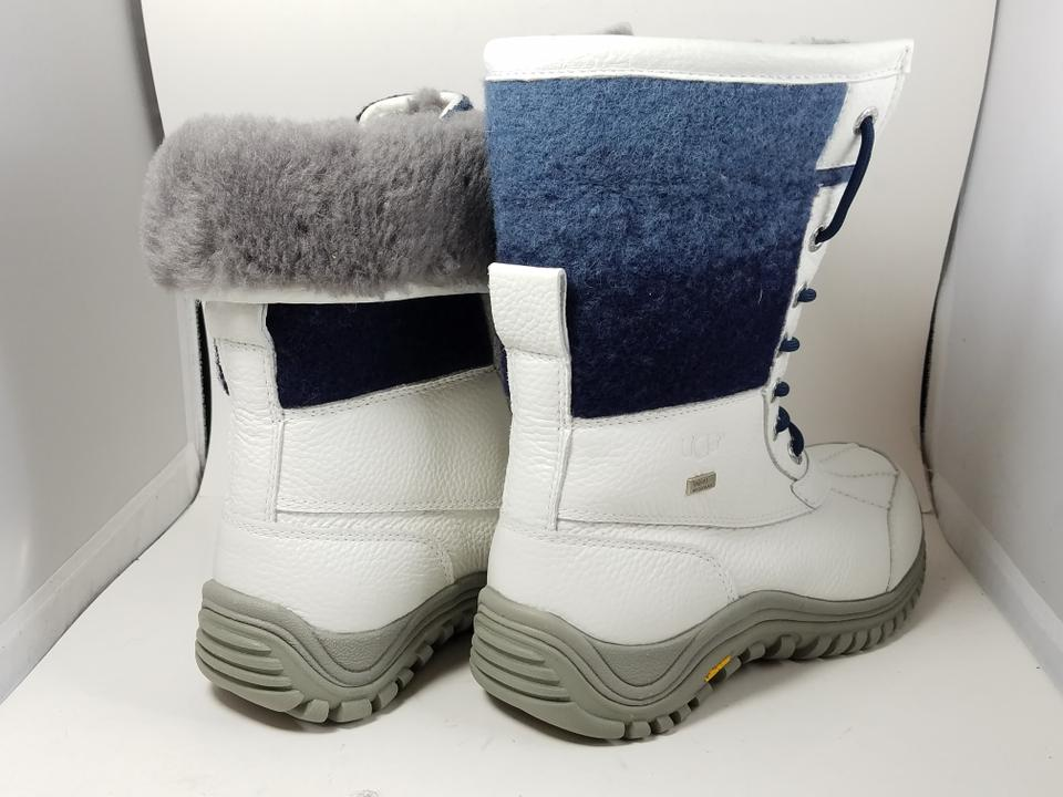 d81bf86a517 UGG Australia White/ Navy 1013505 Adirondack Ii Waterproof Sheepskin  Boots/Booties Size US 8 Regular (M, B) 17% off retail