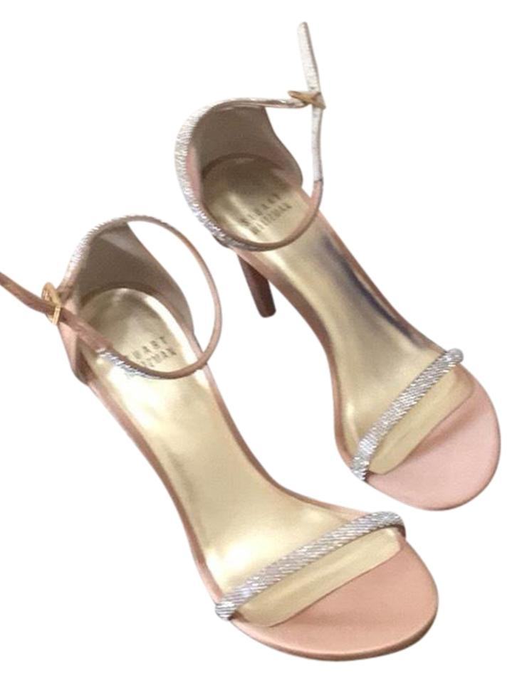 ce1f005d2af7 Stuart Weitzman Light Pink with Silver Sandal Heels Formal Shoes ...