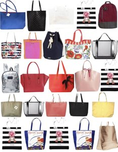 57a4e0eaab0 Macy's Lot Of 25 Bags Mixed Multicolor Coated Canvas Tote 73% off retail