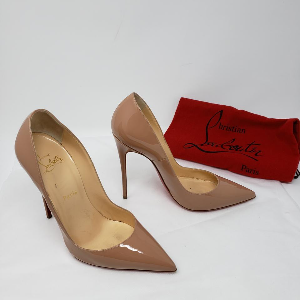 db34ec07b53c Christian Louboutin Beige Nude Patent Leather So Kate 120 Pointed-toe Pumps