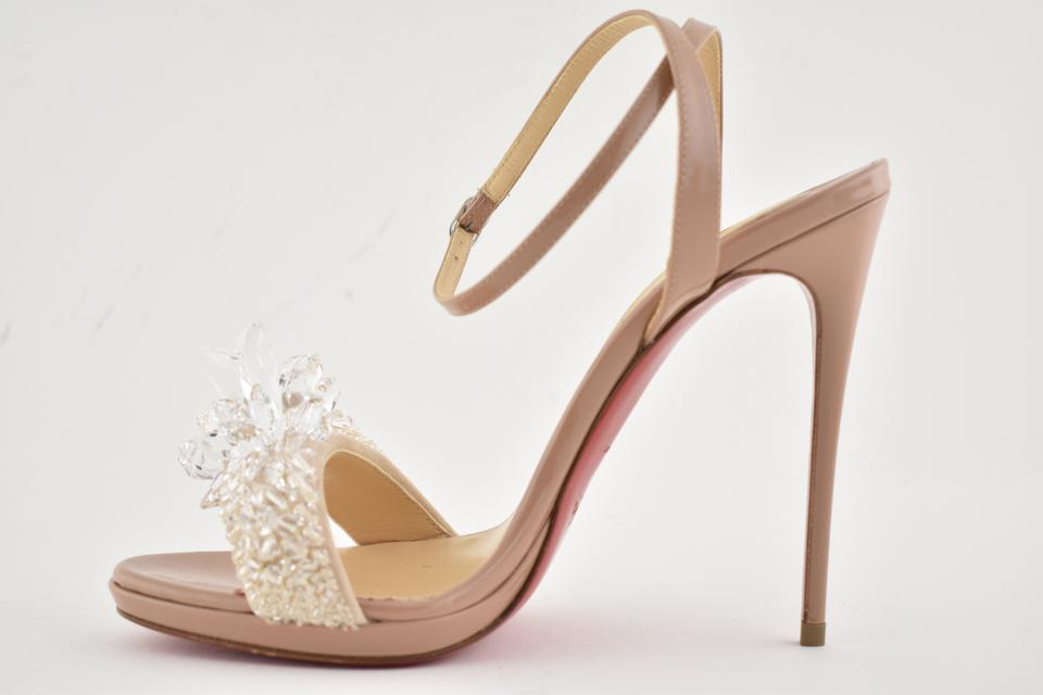 3669e776006 Christian Louboutin Stiletto Classic Ankle Strap Crystal Queen nude Pumps  Image 11. 123456789101112