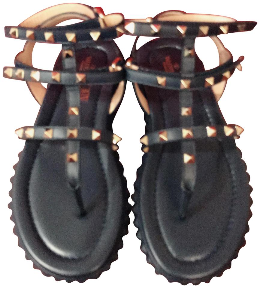 60fba0c3057 Valentino Marine Rockstud Gladiator Thong Sandal W/ Rubber Sole Pumps Size  EU 38.5 (Approx. US 8.5) Regular (M, B) 50% off retail