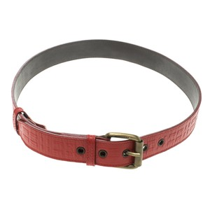 Burberry Burberry Red Embossed Leather Belt 80cm
