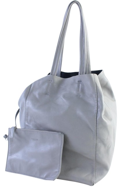 Item - Basic Collection Shopper 1mz0626 Gray Faux Leather Tote