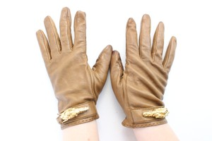 Gucci Brown Tiger Head 16gr0625 Gloves