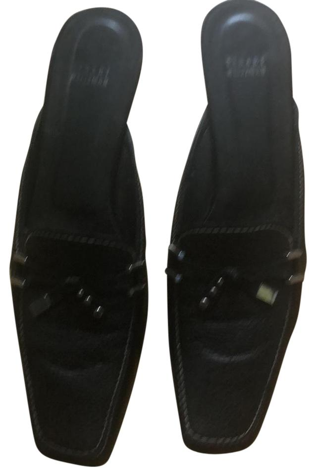 MISS Stuart Stuart MISS Weitzman Black Mules/Slides uppers 677be7
