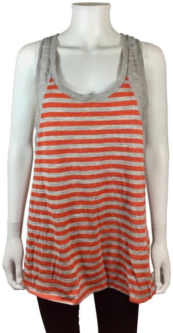 Preload https://img-static.tradesy.com/item/23584736/rag-and-bone-orange-gray-knit-striped-racer-back-tank-blouse-size-12-l-0-2-650-650.jpg