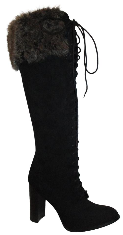01a4629e26 JustFab Black Tall Faux Suede