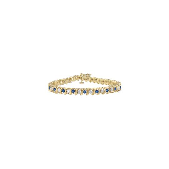 Preload https://img-static.tradesy.com/item/23584874/blue-created-sapphire-and-cz-tennis-300-ct-tgw-on-yellow-vermeil-bracelet-0-0-540-540.jpg