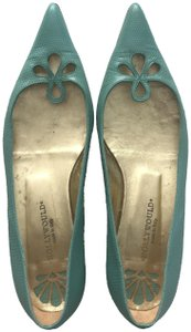 Hollywould Textured Vintage Preppy Turquoise, acqua Flats