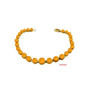 DesignerByVeronica Citrine Prong Set Bracelet Yellow Vermeil over Sterling Silver 15 CT T