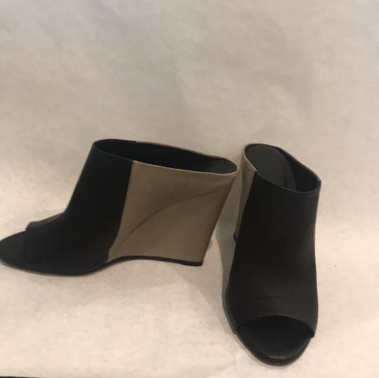 Vince Black and Beige Mules Image 2