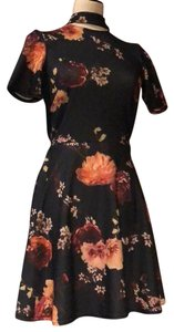 Oh My Love short dress navy multi floral on Tradesy