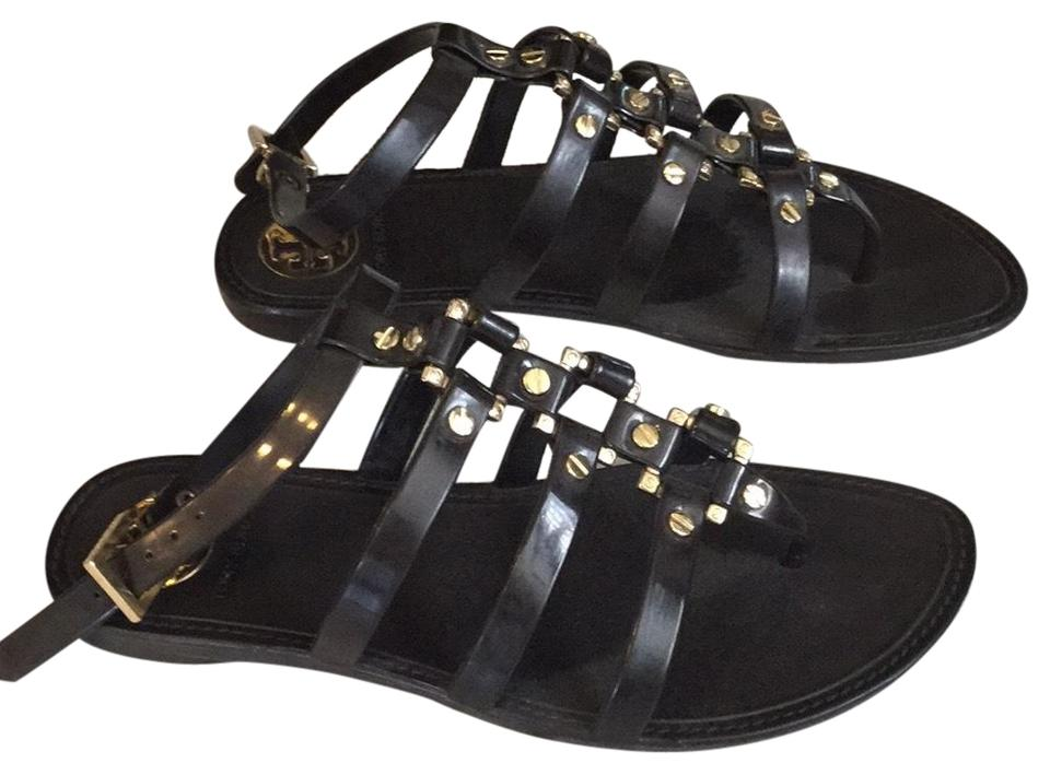 Tory Burch Chocolate Brown Sandals Grommet Gladiator Sandals Brown Flats ca2c42