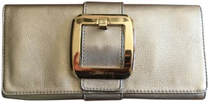 Michael Kors Hardware Leather Gold Clutch