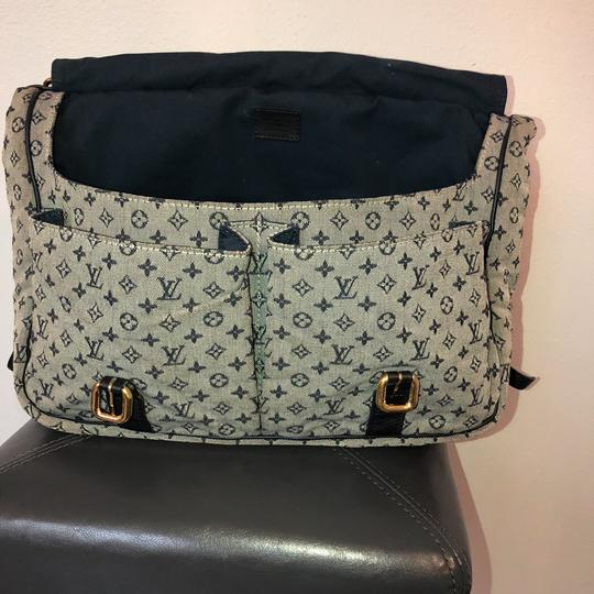 Louis Vuitton navy blue and gray Diaper Bag Image 11