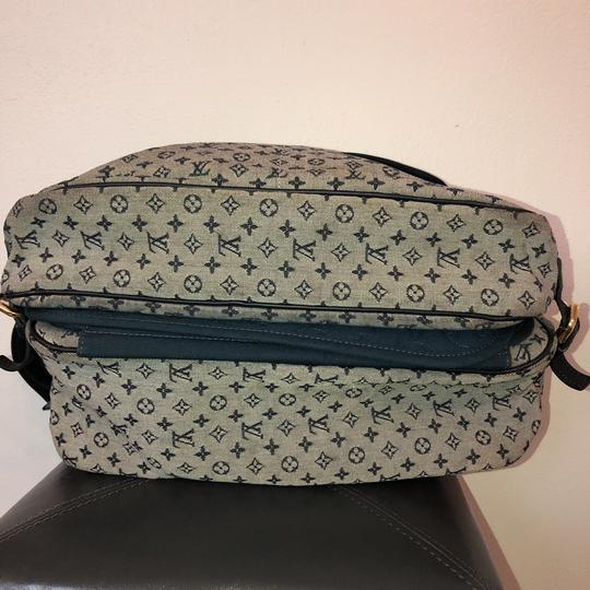 Louis Vuitton navy blue and gray Diaper Bag Image 6