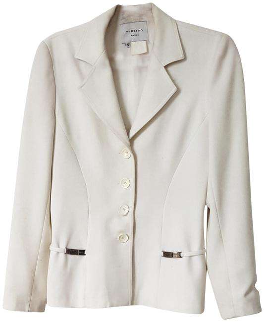 Item - White With Silver Belt Jacket Size 6 (S)