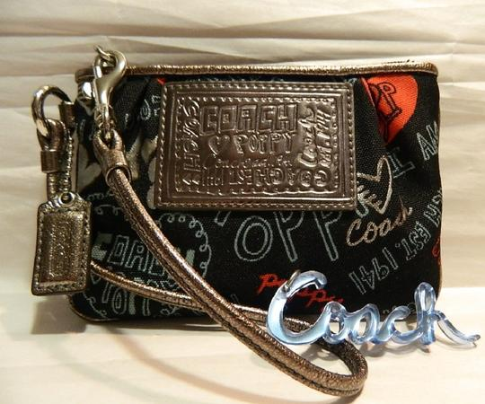 Coach Poppy Rare Wristlet in Red/Black/Silver/Light Blue/Metallic Silver Image 7