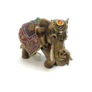 Jay Strongwater Mother Elephant with Tapestry