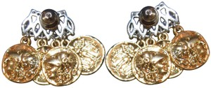 Fallon Fallon Monarch Jagged Mykonos Coin Bar Earrings
