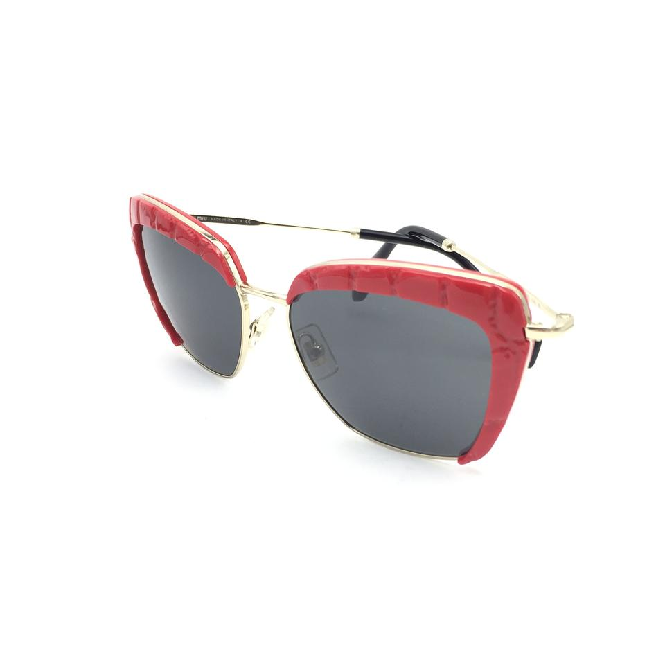 ed0268e2a0d Miu Miu Red Cat Eye SMU52Q USX-5S0 Sunglasses Image 9. 12345678910