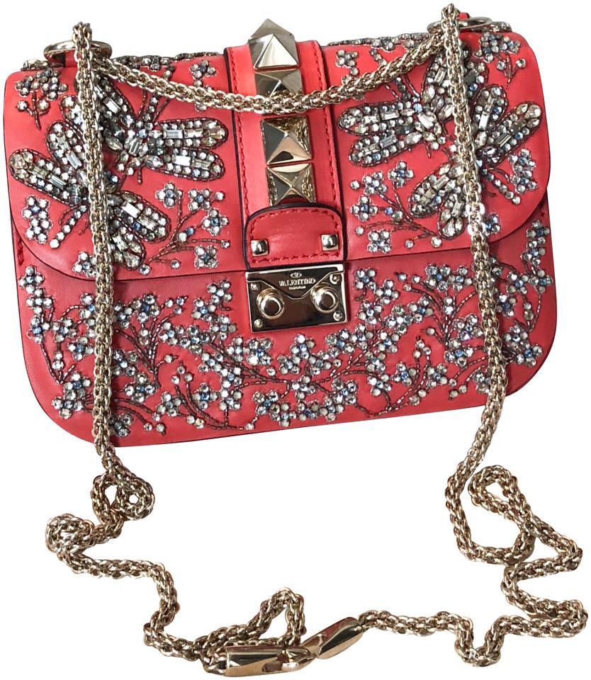 9a1e266668 Valentino Crystal Embellished Butterfly Small Lock Chain Rockstud ...
