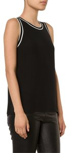 Rag & Bone Sporty Silk Contrast Top Black