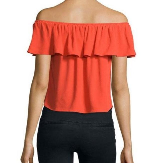 Veronica Beard Off The Shoulder Ruffle Top Poppy Red Image 1