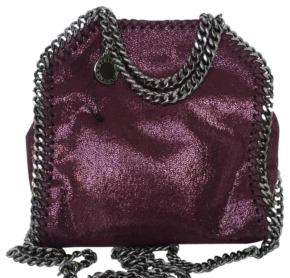 460a64fde0ad Stella McCartney Tiny Falabella Burgundy Vegan Leather Cross Body ...