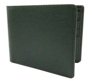 Louis Vuitton Green Tagia Leather Wallet Bifold Slim 6 Card Slot Men's Jewelry/Accessory
