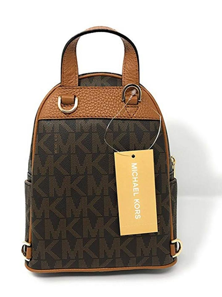 3299b0362120a Michael Kors Abbey Extra-small Signature Studded Brown Acorn ...