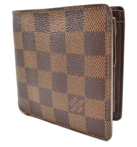 Louis Vuitton Brown Wallet Damier Canvas Leather Marco Bifold Men's Jewelry/Accessory