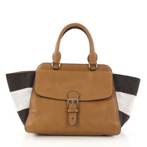 Burberry Leather Satchel in camel