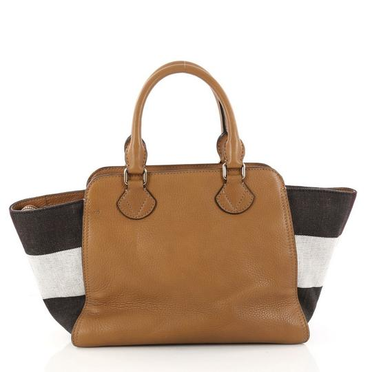 Burberry Leather Satchel in camel Image 3