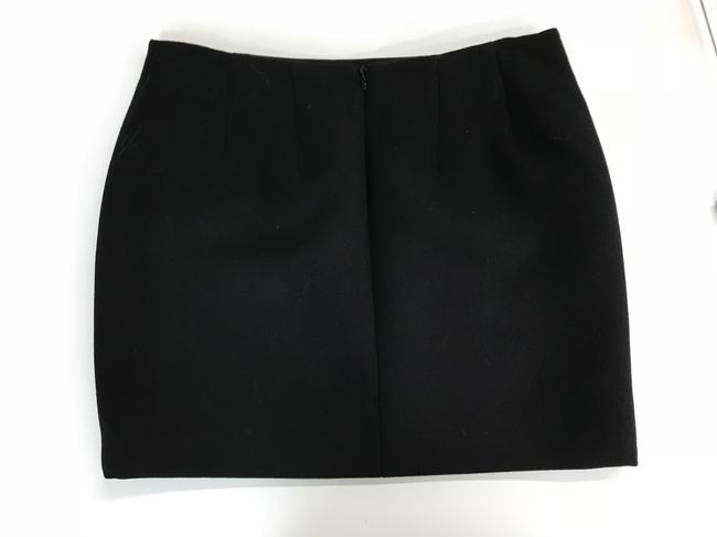 Anthony Vaccarello Wool Mini Skirt Black Image 2