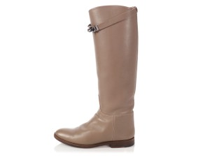 Hermès Hr.p0510.04 Riding Kelly Taupe Tall Etoupe Boots
