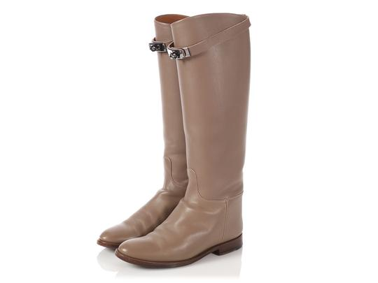 Hermès Hr.p0510.04 Riding Kelly Taupe Tall Etoupe Boots Image 1