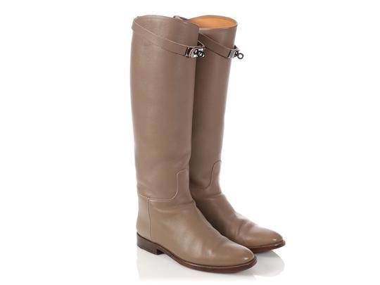 Hermès Hr.p0510.04 Riding Kelly Taupe Tall Etoupe Boots Image 3