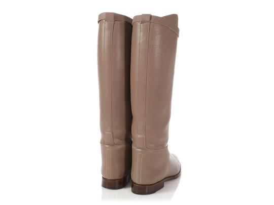 Hermès Hr.p0510.04 Riding Kelly Taupe Tall Etoupe Boots Image 4