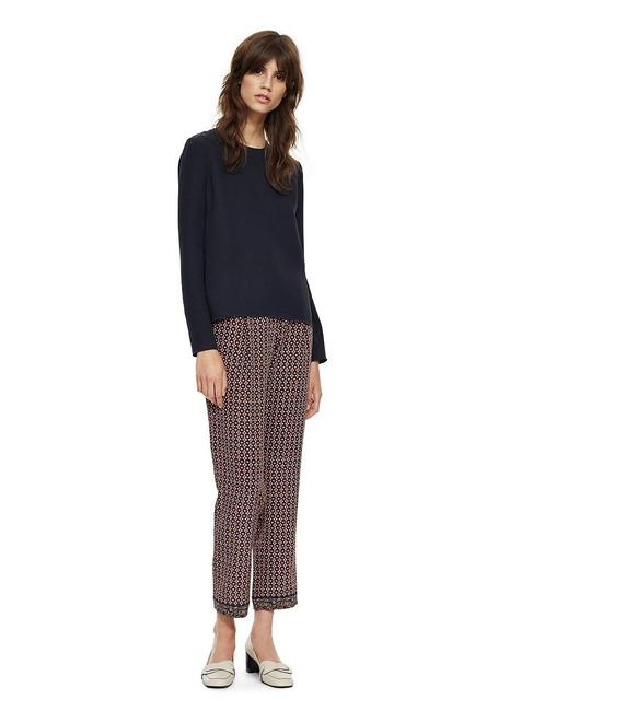 Tory Burch Navy (Nwt) Silk Printed Fit Print Pants Size 4 (S, 27) Tory Burch Navy (Nwt) Silk Printed Fit Print Pants Size 4 (S, 27) Image 1