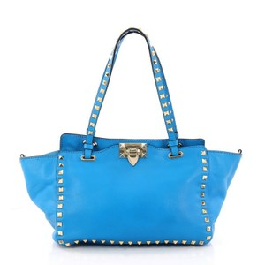 Valentino Leather Tote in blue