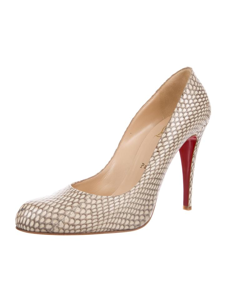 bc3cd0a37bdb Christian Louboutin New Snakeskin Round-toe 10 Pumps Size EU 40 ...