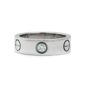 Cartier White Gold Love Ring With 3 Diamonds Love Collection EU 50 (20000)