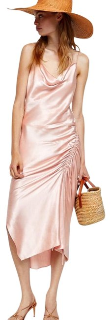 Item - Pink Draped Lingerie-style Mid-length Night Out Dress Size 6 (S)