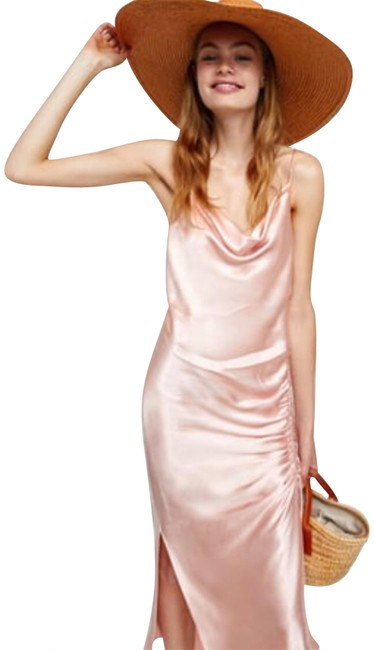 Item - Pink Draped Lingerie-style Mid-length Night Out Dress Size 8 (M)