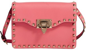 Valentino Rocktud Clutch Blush Cross Body Bag